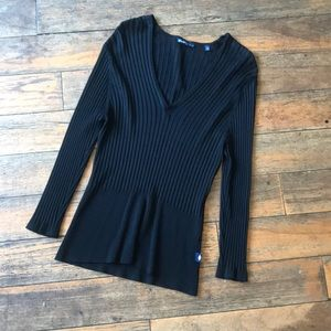 Bisou Jeans Large Ribbed Sweater